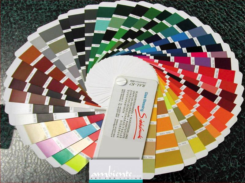 RAL Farben Auswahl Glas Heizkörper
