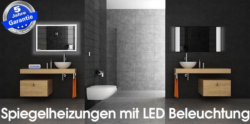 infrarot spiegelheizungen 10 gr en bis 1400 watt. Black Bedroom Furniture Sets. Home Design Ideas