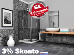 infrarot spiegelheizung 500 watt rahmenlos slim. Black Bedroom Furniture Sets. Home Design Ideas