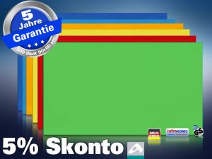Farbige Infrarotheizung slim-line Rahmenlos 400 bis 900 Watt grün