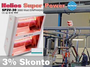 Super Power Infrarot Wärmestrahler Helios Titan SP2V 3000 Watt IP25