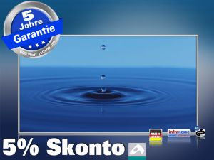Infrarot Bildheizung 600 Watt 110x60 M10-SL Wassertropfen