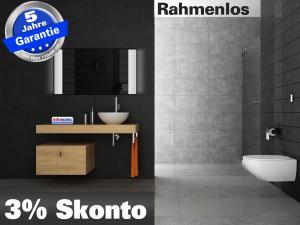 spiegelheizung mit licht rahmenlos 400 700 watt. Black Bedroom Furniture Sets. Home Design Ideas