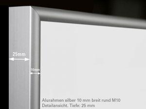 infrarotheizung 500 watt glas wei mit rahmen m10. Black Bedroom Furniture Sets. Home Design Ideas