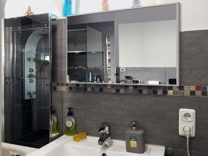 infrarot spiegelheizung 600 watt alurahmen m10. Black Bedroom Furniture Sets. Home Design Ideas