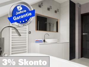 Infrarot Spiegelheizung Bad 600 Watt ESG Glas 110x60 Holzrahmen HB30