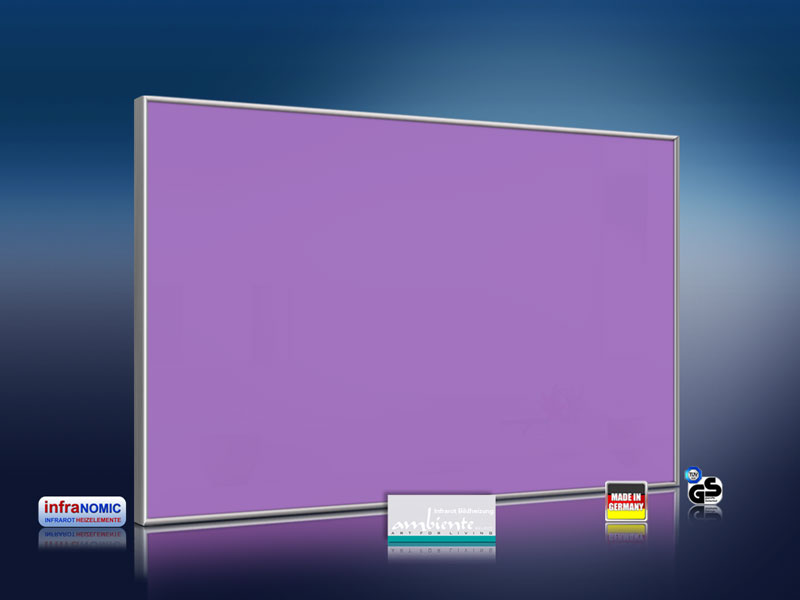 infrarotheizung farbig  watt verkehrspurpur
