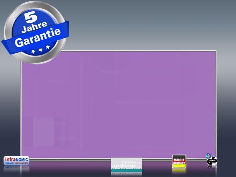 infrarotheizung 600 watt wei mit alurahmen m10. Black Bedroom Furniture Sets. Home Design Ideas