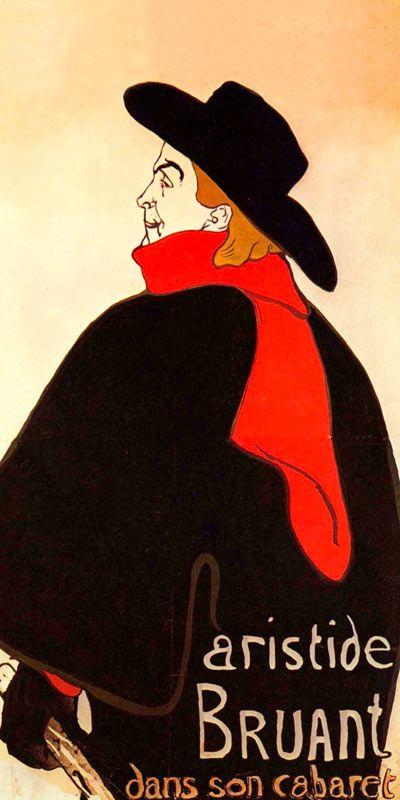 Lautrec: Henri de Aristide Bruant für Infrarot Bildheizung 60x120