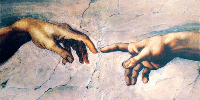 Michelangelo: Erschaffung Adams für Infrarot Bildheizung 120x60