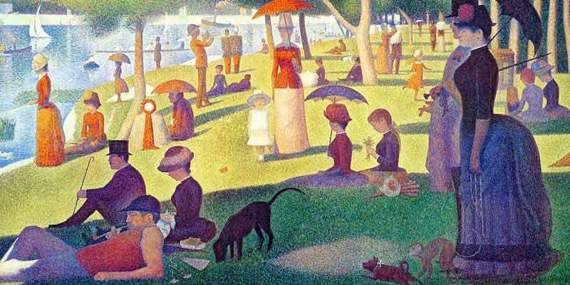 Seurat: Ein Sonntag Motiv für Infrarot Bildheizung 120x60