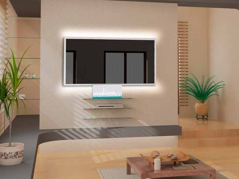 LED Beleuchtung 2-seitig an den langen Seiten für Infrarotheizungen
