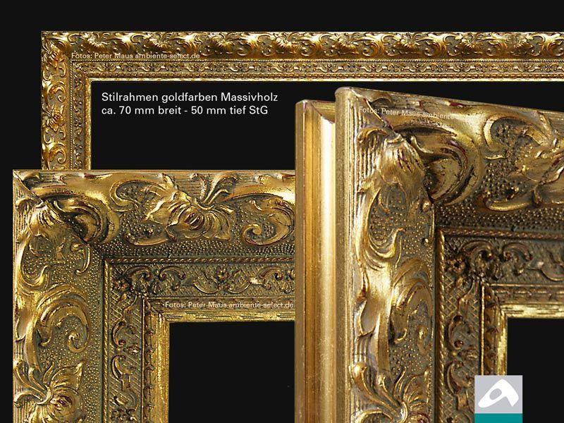 Aufpreis Stilrahmen Massivholz goldfarbig StG alle Größen