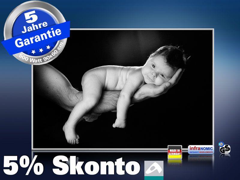 infrarot Bildheizung 500 Watt 90x60 M10-SL Baby