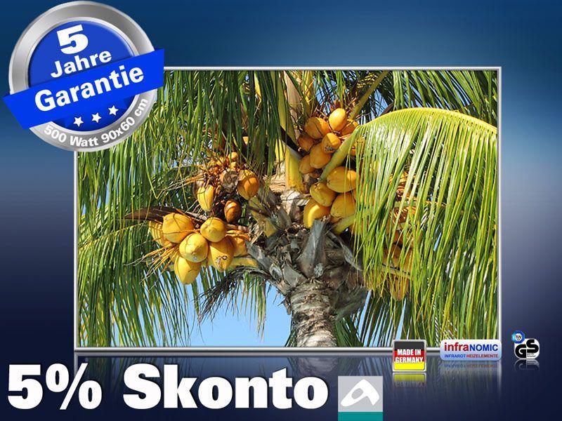 infrarot Bildheizung 500 Watt 90x60 M10-SL Palmenfrüchte