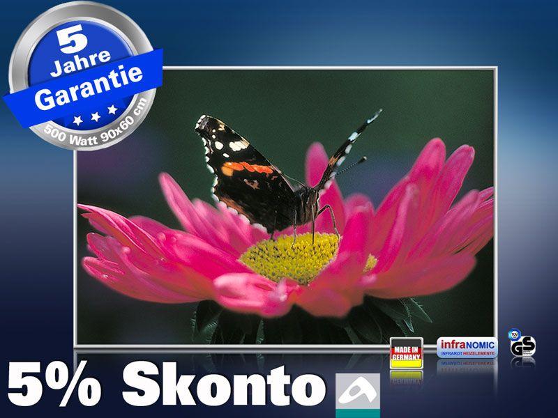 infrarot Bildheizung 500 Watt 90x60 M10-SL Schmetterling