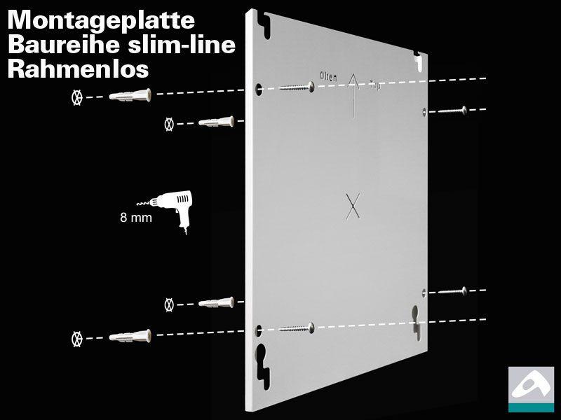 Infrarotheizung rahmenlos 400 watt wei slim line for Spiegel 70x60