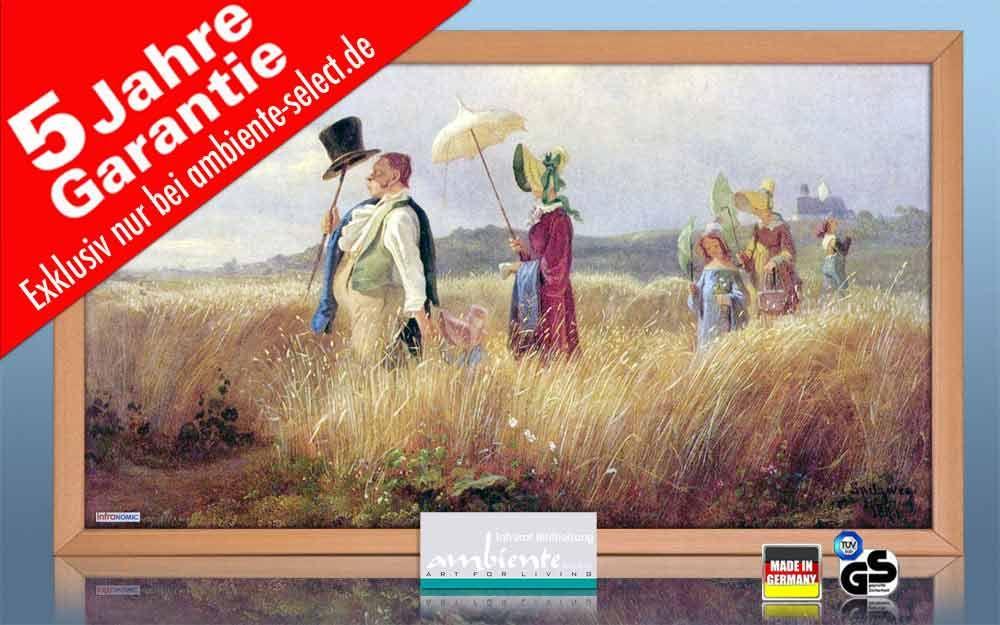 Infrarot Bildheizung Kunst 600 Watt 110x60 HB30 Sonntagsspaziergang