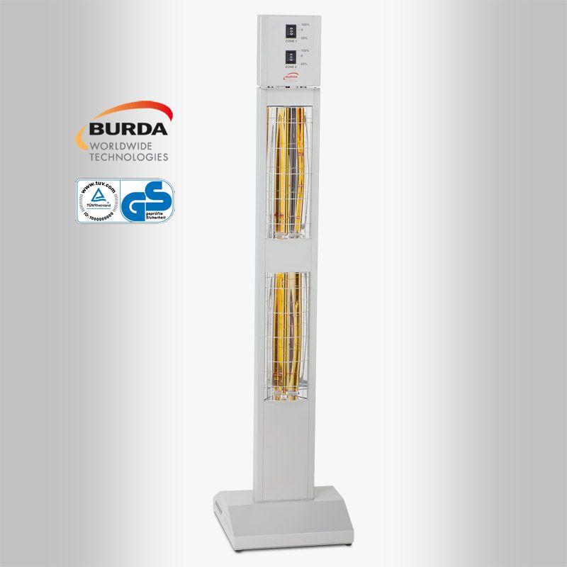 BURDA SMART TOWER BHST30 IP20 silber mit integriertem Dimmer