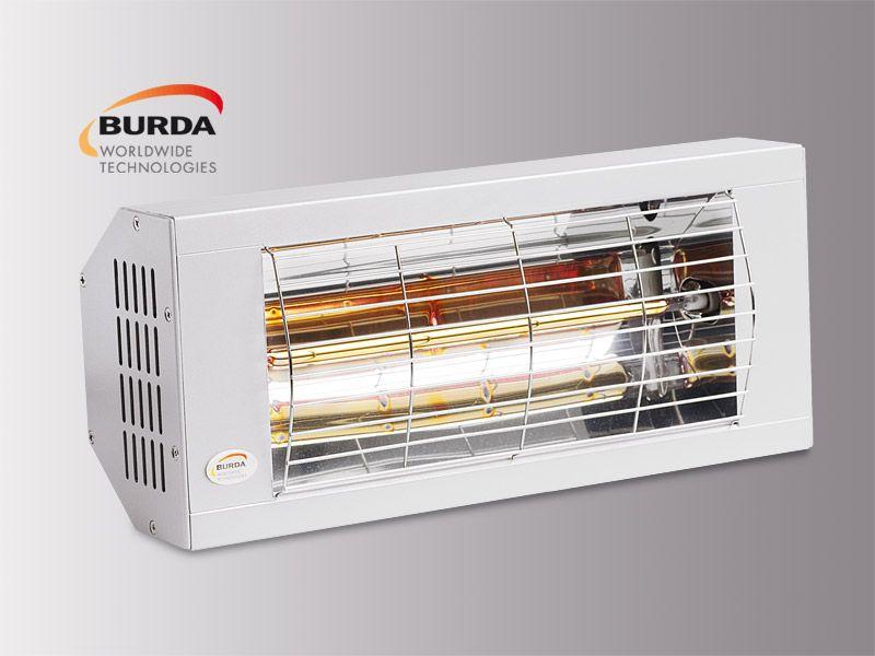 Burda Infrarot Heizstrahler SMART 1300 IP20 1,3 KW weiß BHS13