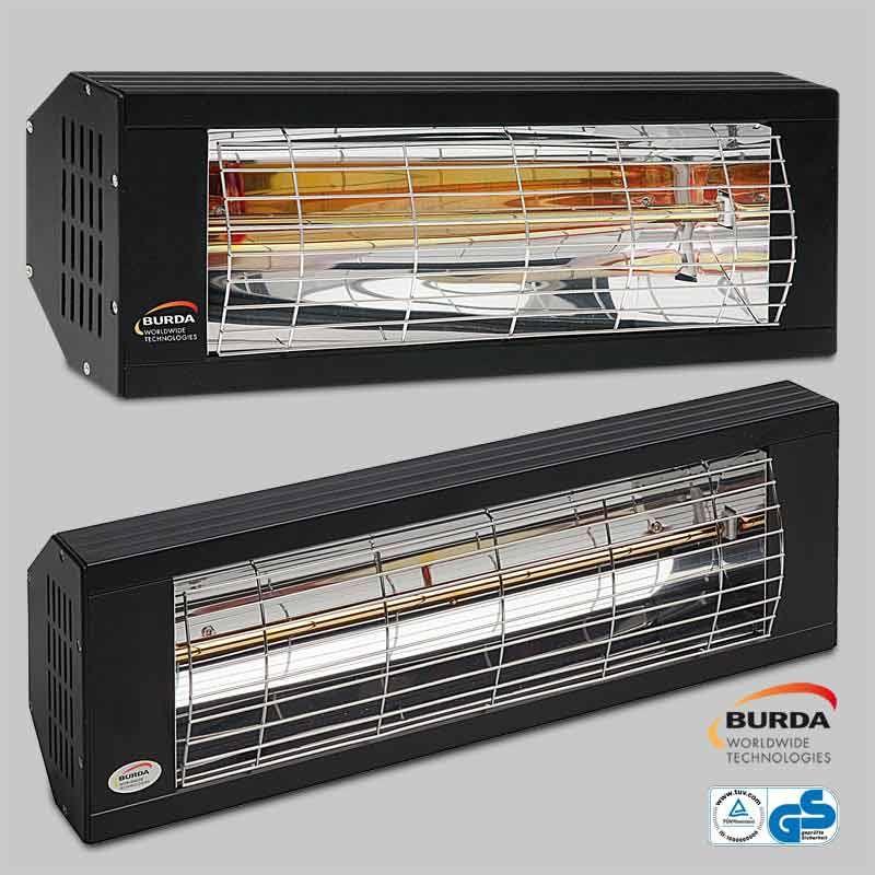 Burda Infrarot Wärmestrahler SMART 2000 IP20 2Kw schwarz BHS20-1