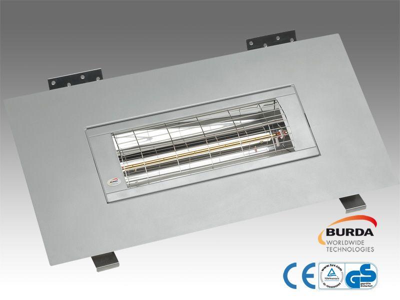 Burda Einbau Infrarot Heizstrahler Frame IP24 2,0 KW silber BHSF20-3