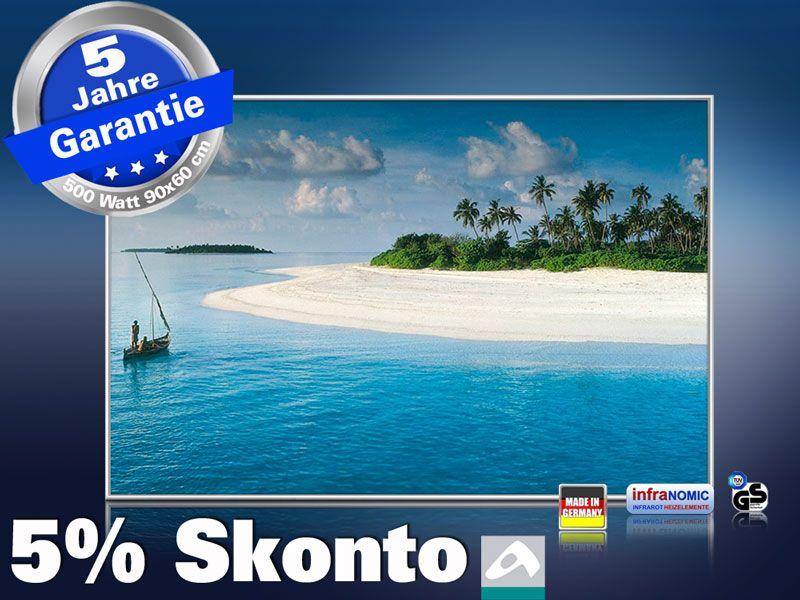 Infrarot Bildheizung 500 Watt 90x60 M10-SL Malediven