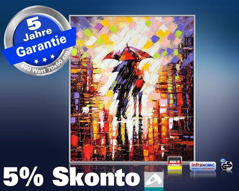 Infrarot Bildheizung Kunst 400 Watt 70x60 M10-SL Im Regen