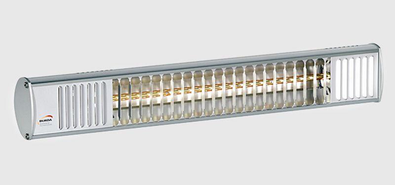 Burda Infrarot Heizstrahler TERM2000 RCA200V IP67 Alu poliert