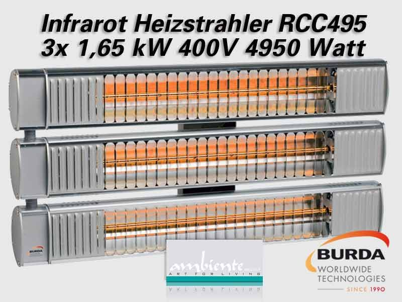 Burda Infrarot Multi Heizstrahler TERM2000 RCC600V IP67