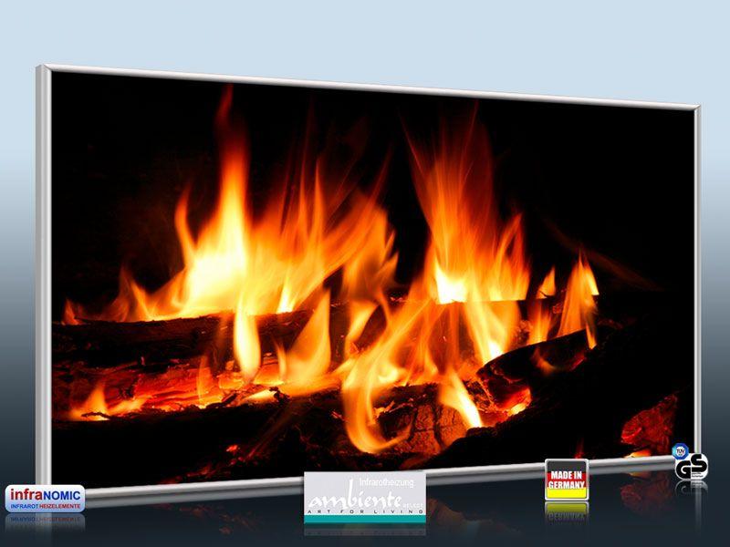 infrarot bildheizung 700 watt m10 kaminfeuer. Black Bedroom Furniture Sets. Home Design Ideas