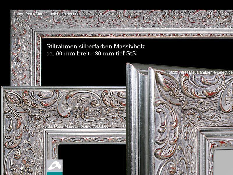 Aufpreis Stilrahmen Massivholz silberfarbig StSi alle Größen