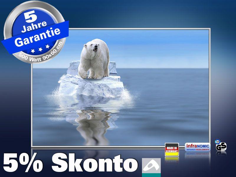 infrarot Bildheizung 500 Watt 90x60 M10-SL Eisbär