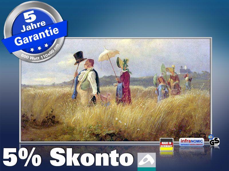 Infrarot Bildheizung Kunst 600 Watt 110x60 M10-SL Sonntagsspaziergang