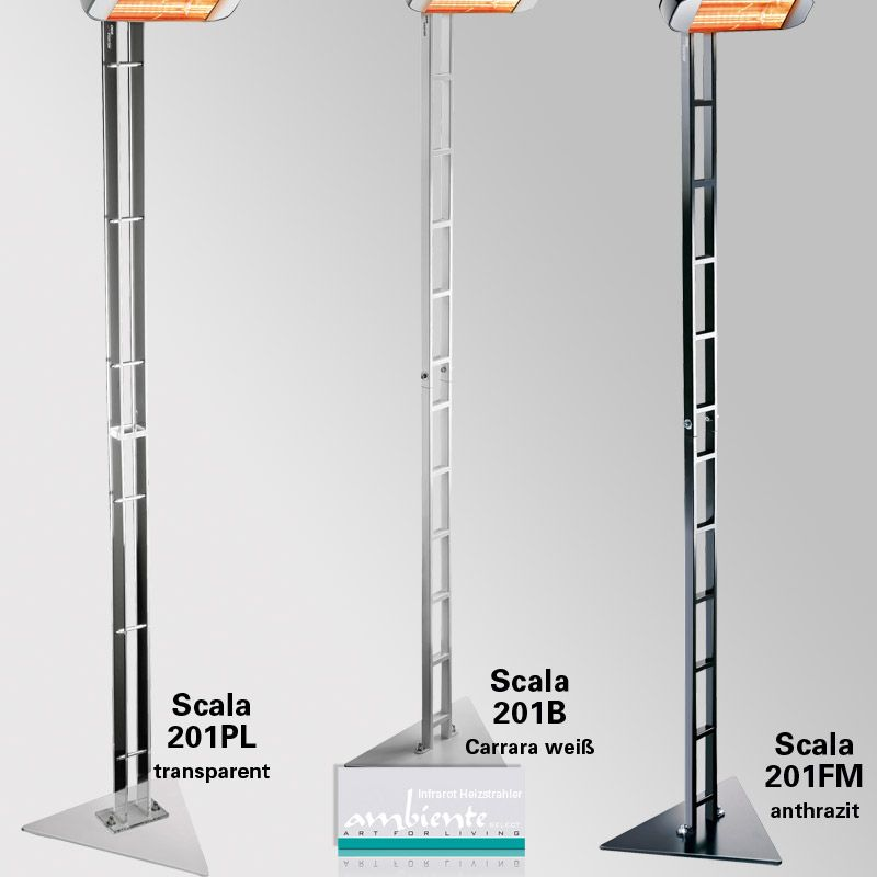 Stativ Scala 213 cm hoch für Infrarotstrahler Heliosa HiDesign
