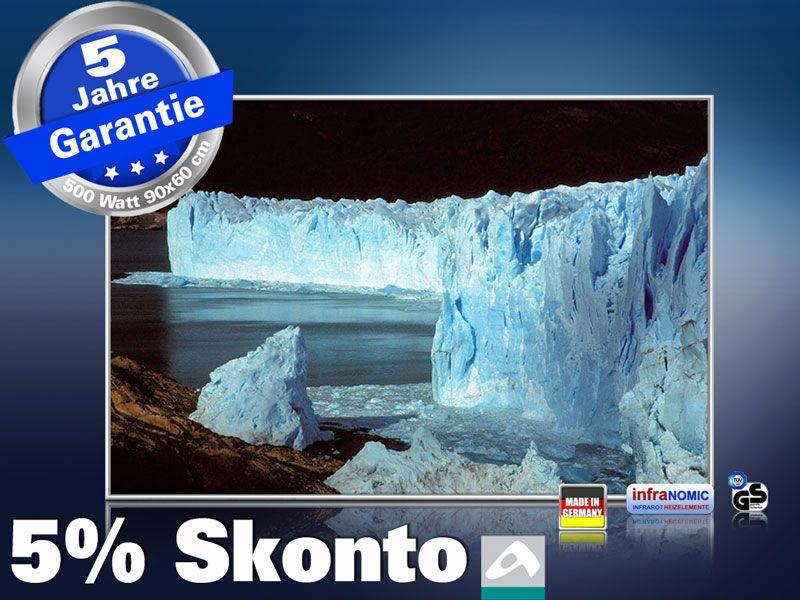 infrarot Bildheizung 500 Watt 90x60 M10-SL Eisberge