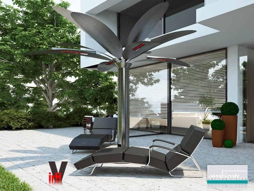 infrarot heizstrahler k nigspalme 3x 1500 watt. Black Bedroom Furniture Sets. Home Design Ideas