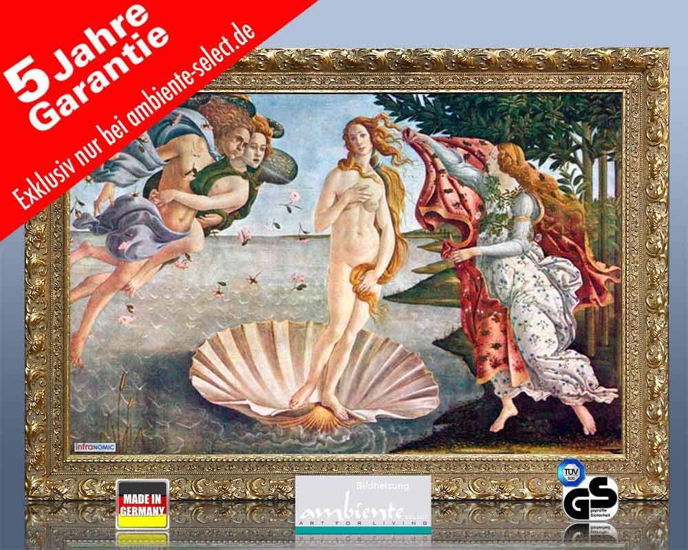 infrarot Bildheizung Kunst 500 Watt 90x60 StG Geburt der Venus
