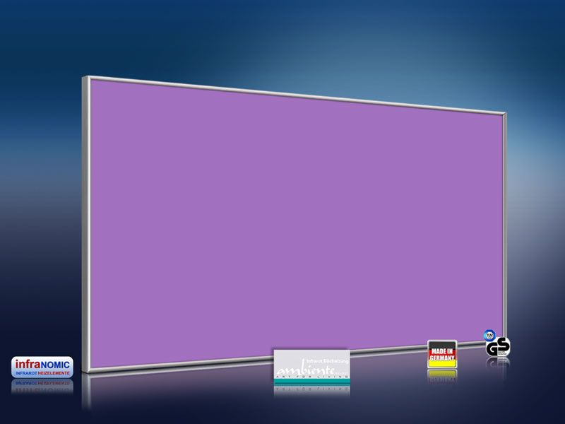 infrarotheizung farbig 600 watt verkehrspurpur infrarotheizung store infranomic. Black Bedroom Furniture Sets. Home Design Ideas