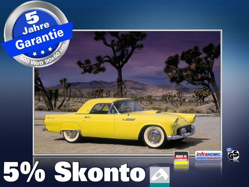 Infrarot Bildheizung 500 Watt 90x60 M10-SL Ford Thunderbird