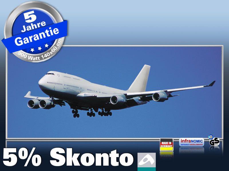 Infrarot Bildheizung 900 Watt 140x60 M10-SL Jumbo Jet
