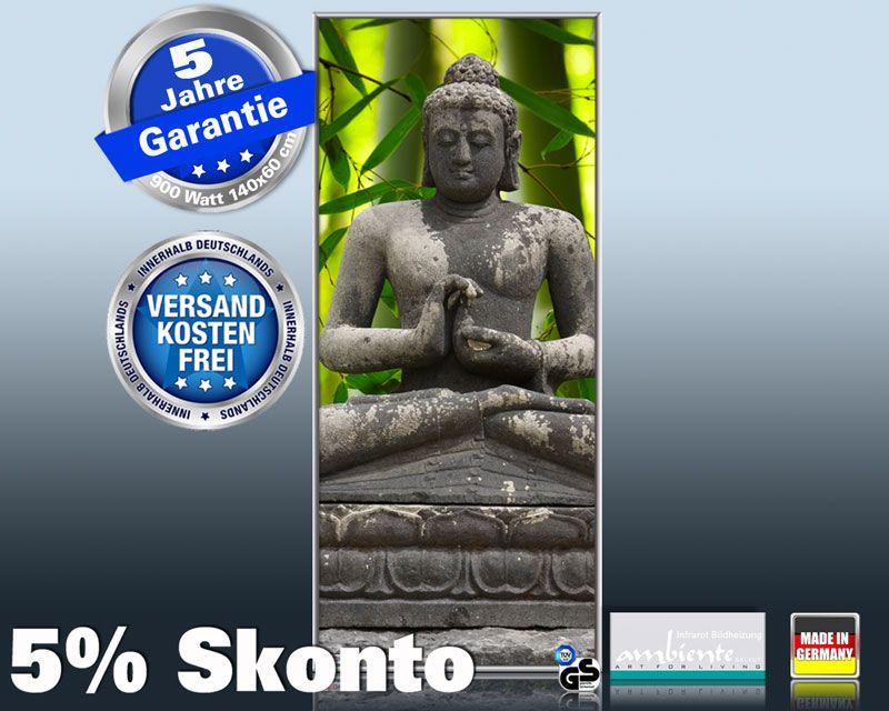 Infrarotheizung mit Bild Bildheizung 900 Watt 140x60 M10-SL Buddha