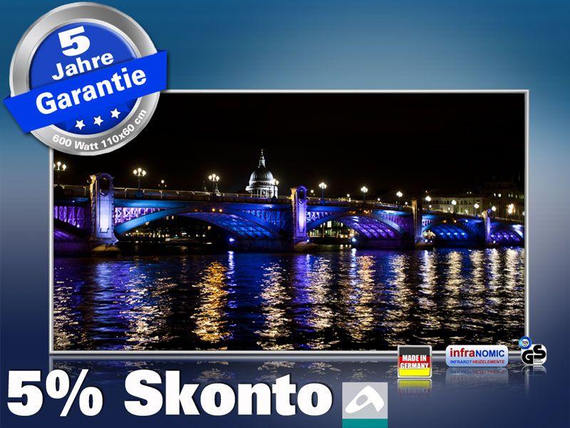 Infrarot Bildheizung 600 Watt 110x60 M10-SL London bei Nacht
