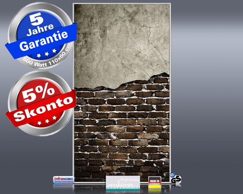 Infrarot Bildheizung 600 Watt 110x60 M10-SL Wand