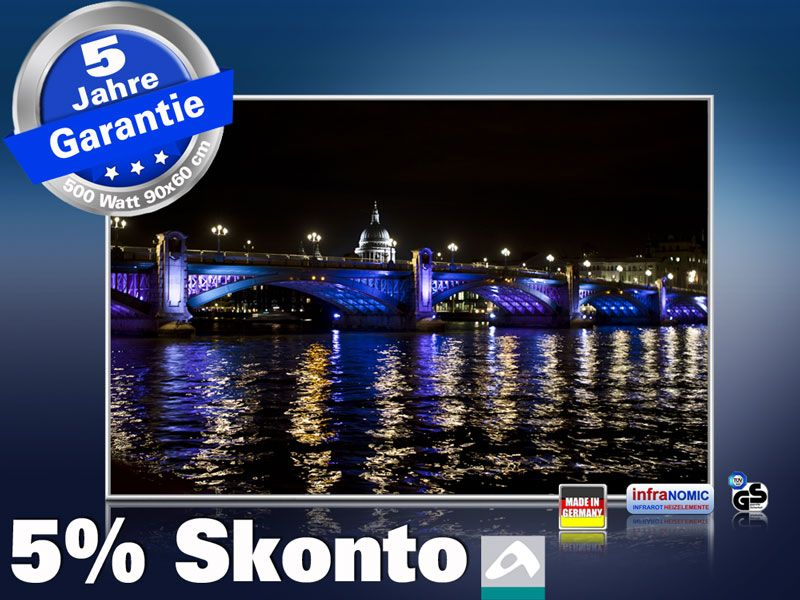 infrarot Bildheizung 500 Watt 90x60 M10-SL London bei Nacht