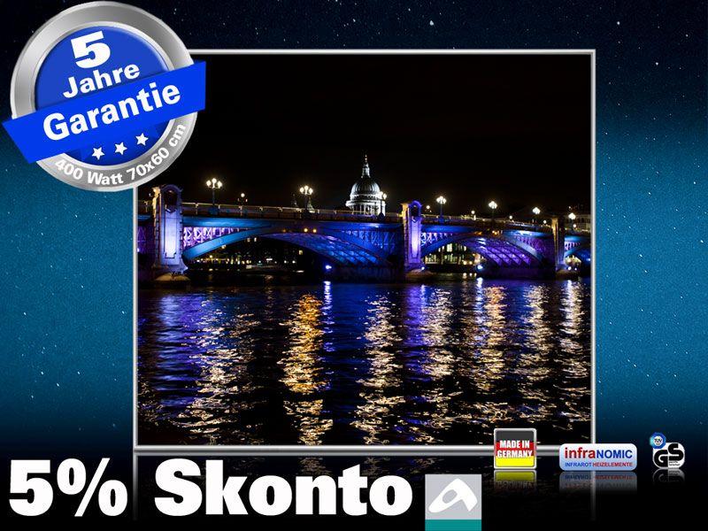 Infrarot Bildheizung 400 Watt 70x60 M10-SL London bei Nacht