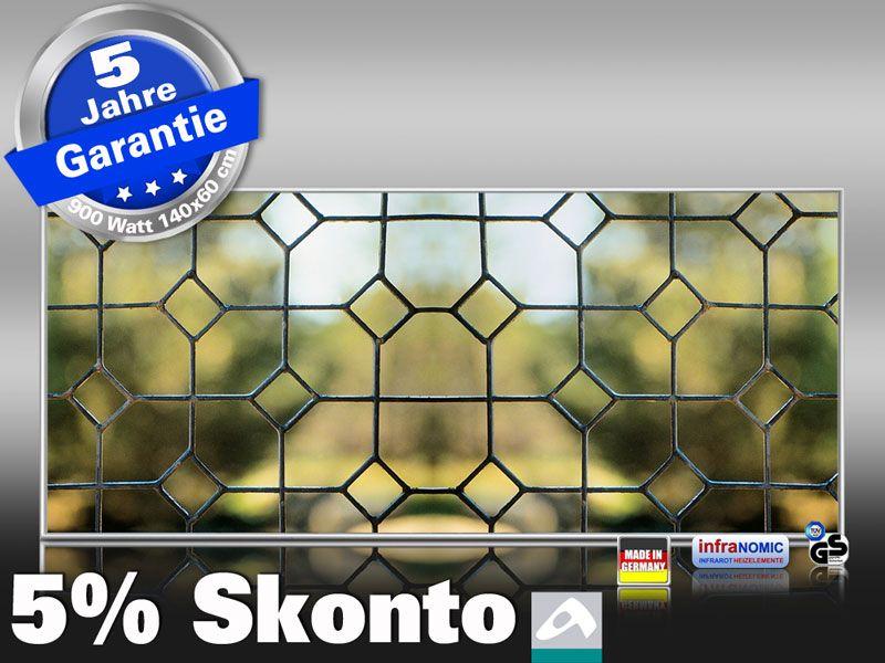 Infrarot Bildheizung 900 Watt 140x60 M10-SL Fenster III
