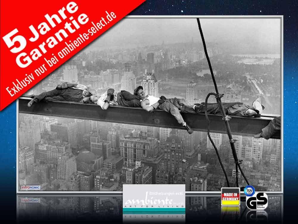 Infrarot Bildheizung 500 Watt 90x60 M10-SL catnap atop a skyscraper 1c