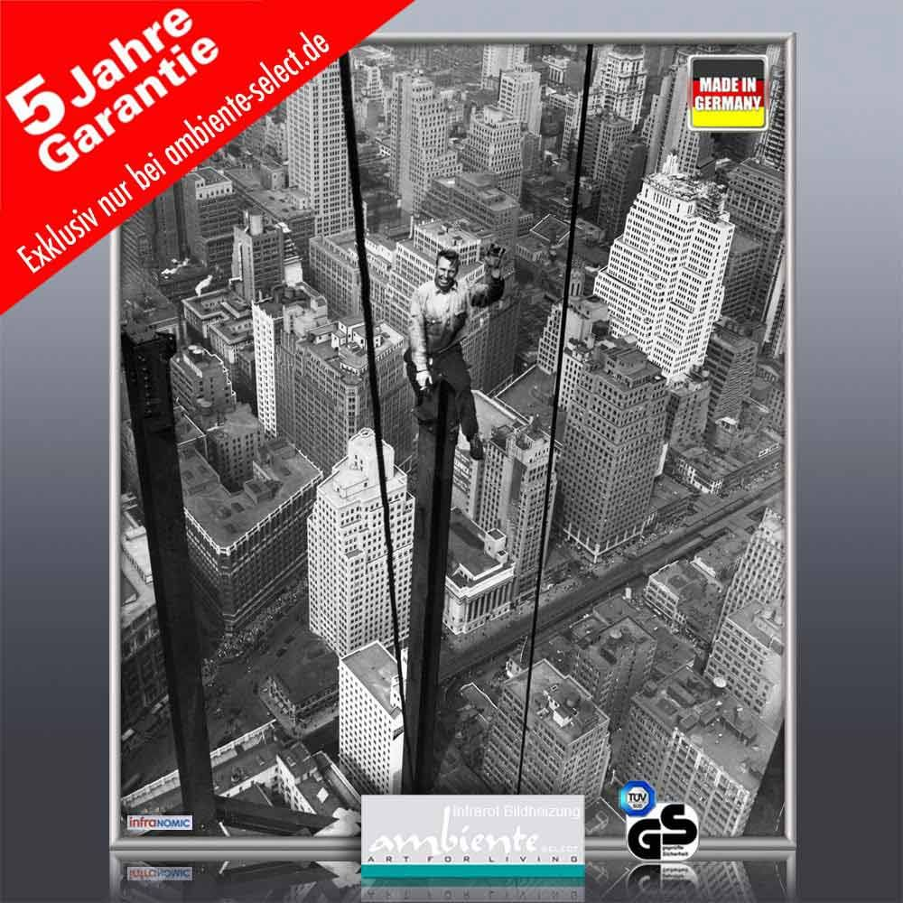 infrarot Bildheizung 400 Watt 70x60 M10-SL Empire State Building 1930