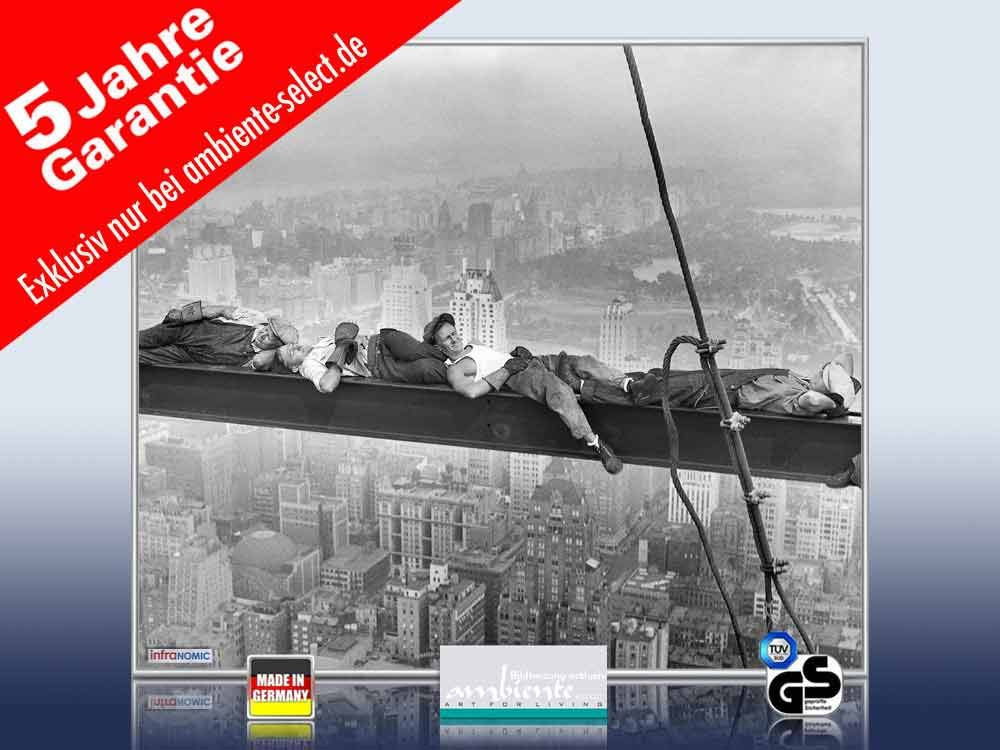 infrarot Bildheizung 400 Watt 70x60 M10-SL catnap atop a skyscraper 1c